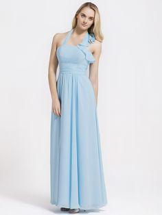 Flutter Halter Chiffon Bridesmaid Dress  Read More:     http://www.weddingspnina.com/index.php?r=flutter-halter-chiffon-bridesmaid-dress-chgeno.html