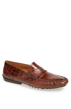 Mezlan 'Encina' Crocodile Penny Loafer available at #Nordstrom