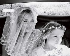 Kate Moss with her beautiful daughter on her wedding day