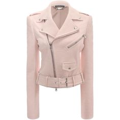 Shop Women's Cropped Leather Biker Jacket from the official online store of iconic fashion designer Alexander McQueen. Cropped Leather Jacket, Leather Jackets, Biker Jackets, Moto Jacket, Outerwear Jackets, Alexander Mcqueen, Cuir Rose, Pink Jacket, Mantel