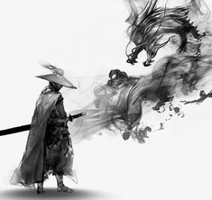 Ink free martial arts and dragon pull material PNG… Ninja Kunst, Arte Ninja, Ninja Art, Japanese Art Samurai, Japanese Artwork, Japanese Tattoo Art, Japanese Dragon, Samurai Drawing, Samurai Artwork