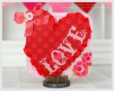 A cute Valentine card using Doodlebug 'Love Bird' collection. Designed by Tamara Tripodi