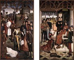 La Justice d'Othon – Le Supplice de l'innocent, vers 1460, Dirck Bouts, (Bruxelles, Musées Royaux des Beaux-Arts).