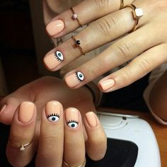 Accurate nails Apricot nails Beautiful nails 2020 Beautiful summer nails Fashion nails 2020 Gentle summer nails Light summer nails Manicure by summer dress Best Nail Art Designs, Short Nail Designs, Cute Nails, Pretty Nails, Hair And Nails, My Nails, Best Nails, Nailart Glitter, Evil Eye Nails