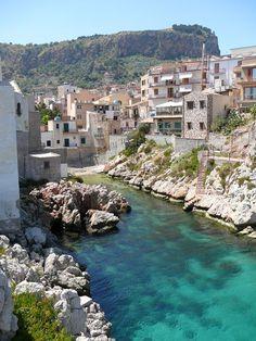 In pretty Sant Elia, Sicily, Italy.