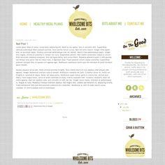 WHOLESOME BITS - Smitten Blog Designs