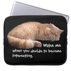 Badass Cats - Wake me... Laptop Computer Sleeve