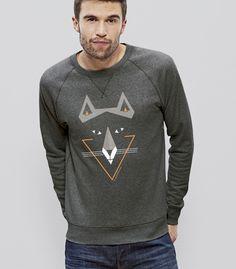 Verfuchstes Männeroberteil / shirt for men with a fox by Silberfischer via DaWanda.com