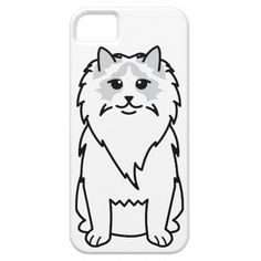 Ragdoll Cat Cartoon iPhone 5 Case