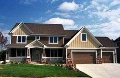 - 14350RK   2nd Floor Master Suite, Bonus Room, CAD Available, Craftsman, Den-Office-Library-Study, Loft, Northwest, PDF, Photo Gallery, Sloping Lot   Architectural Designs