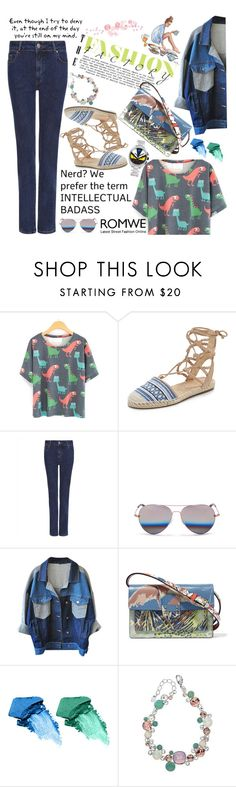 """""""Romwe T-shirt ♥"""" by av-anul ❤ liked on Polyvore featuring Schutz, Jaeger, Matthew Williamson, Love Quotes Scarves, Valentino, NARS Cosmetics, Fendi, romwe and avanul"""