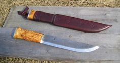 Pasi Hurttila. Leuku with forged C60 carbon steel blade. Blade length 220mm.