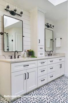 Bathroom decor for your master bathroom renovation. Discover master bathroom organization, master bathroom decor ideas, bathroom tile a few ideas, master bathroom paint colors, and more. Diy Bathroom, Bathroom Renos, Bathroom Renovations, Bathroom Interior, Home Remodeling, Bathroom Ideas, Bathroom Organization, Bathroom Storage, Bathroom Hardware