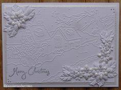 Welkom bij Jannie van der Zwan: Embossing folder kerstmis