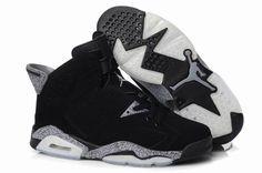3905 Cheap Mens Air Jordan Retro 6 Leopard Shoes All Black 68474