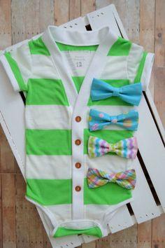 Spring Easter Preppy Baby Cardigan Onesie Green by TheHumbleLemon Tie Shorts, Little Boy Fashion, Baby Cardigan, Little Man, Mom And Dad, Preppy, Onesies, Baby Boy, Bows