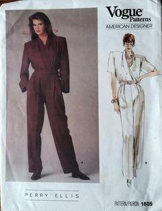 Vogue Patterns, American Designer: Perry Ellis, 1605, Size 14: Vogue Pattern Service, New York, New York, USA No Binding - L. Lam Books