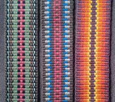 Three brown straps. #guitarstrap #anniemachale #weaverguitarstraps