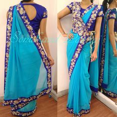 Whatsapp for further details at customization available 21 January 2017 Sari Blouse Designs, Fancy Blouse Designs, Blouse Patterns, Clothing Patterns, Blouse Models, Saree Models, Stylish Blouse Design, Stylish Sarees, Saree Styles