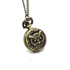 Rosallini Ladies Bronze Tone Owl Hunter Case Floral Necklace Pocket Watch  http://electmejewellery.com/jewelry/necklaces/rosallini-ladies-bronze-tone-owl-hunter-case-floral-necklace-pocket-watch-ca/