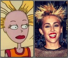 Angelica Pickles's doll & Miley Cyrus