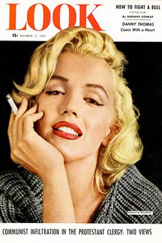 1953 November issue: Look American magazine cover, Marilyn Monroe .... #marilynmonroe #normajeane #vintagemagazine #pinup #icon #1950s #Lookmagazine #raremagazine