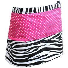 Amazon.com: Zebra Polkadot Print 3 Pocket Waitress Apron-hotpink: Home  Kitchen Waitress Apron, Kitchen Aprons, Learn To Sew, Sewing Projects, Gym Shorts Womens, Polka Dots, Pocket, Amazon, Cute