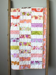 Hey, I found this really awesome Etsy listing at https://www.etsy.com/listing/229883158/modern-baby-girl-quilt-girl-nursery