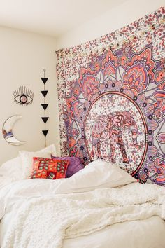Deja Vu Tapestry✨  Design by @kaitlynjohnsondesign ☽ ✩ Product by Lady Scorpio   Bohemian Boho Bungalow Bedroom    Save 25% off all orders with code PINTERESTXO at checkout   Shop Now LadyScorpio101.com