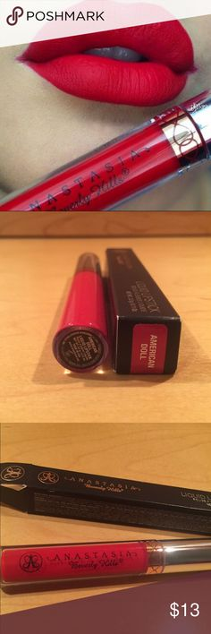 Anastasia Liquid Lipstick in American Doll Bright Red Liquid Lipstick. Never opened. Anastasia Beverly Hills Makeup Lipstick