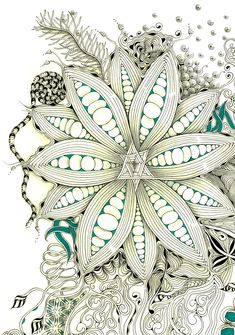 Thislarge Zentangle Inspired Art started with auraknot as a string,from there I went freestyle out and down the page.  Have a super weeke...