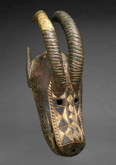 Africa | Helmet Mask from the Bobo cutlure, Burkina-Faso, in the form of an antelope