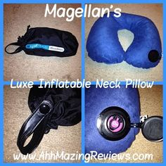 Keep Calm and Road Trip ~ Magellan's ~ Luxe Inflatable Neck Pillow {Review & Giveaway ~ North America}