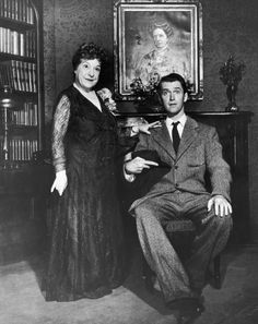 """Josephine Hull and James Stewart in """"Harvey""""  (1950)  Josephine Hull - Best Supporting Actress Oscar 1950"""