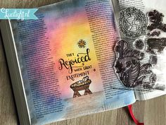 They rejoiced with great excitement - biblejournaling by lucilight