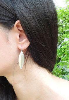Leaf Shape Sterling Silver Earring Leaf Shapes, Sterling Silver Earrings, Drop Earrings, Jewelry, Accessories, Jewellery Making, Jewels, Jewlery, Jewerly