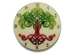 Celtic Tree of Life Wall Clock, Celtic Home Decor, Hand Painted, Silent, Glass Paiting Wall Clock Wall Clock Craft, Wall Clocks, Tree Of Life Art, Celtic Tree Of Life, Thing 1, Everyday Objects, Wedding Gifts, Craft Ideas, Hand Painted
