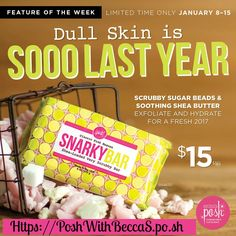 Check out this week's featured product!!   Trying to break up with irritable skin and stubborn spots? This decadent shea butter bar is filled with our vegan polylactic acid beads that scrub off dry, dead skin, leaving it smooth, svelte, and irresistibly soft. Our blend of bergamot, mandarin, freesia, lily, and sandalwood gives your skin that classic, Posh scent!   https://PoshWithBeccaS.po.sh/classic-pink-snarky-bar