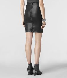 # AllSaints: Metal Pencil Skirt