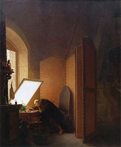 Gérôme, Rembrandt Etching a Plate in His Atelier, 1861