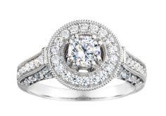 Gorgeous Round Diamond Engagement Ring at Houston Jewelry!