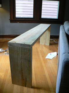 24 Best DIY Sofa Table Ideas for Your Home - Roomaintenance Bar Table Diy, Sofa Table Decor, Bar Tables, Sofa Tables, Dining Table, Bar Height Table Diy, Table Stools, Narrow Console Table, Counter Stools