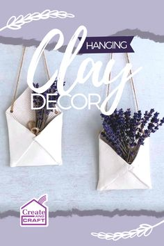 Looking for a crafty alternative to traditional hanging plant pots to bring a little botanical beauty into your home this spring? Perfect for displaying dried flowers and herbs, these eye-catchingly elegant hanging clay envelopes are a pretty addition to any kitchen, and so easy to make! Check out the tutorial right here. Diy Hanging, Hanging Plants, Potted Plants, Plant Pots, Create And Craft, Dried Flowers, Envelopes, Easy Crafts, Diy Home Decor