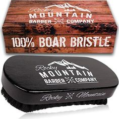 Men's Hair Brush- 100% Pure Black Boar Hair Natural Bristle for Beard, Moustache - Firm Military Style with Handmade Wood Handle - No Snags, No Scratch, Gentle Bristle Comb that Can be Used with Beard Oil & Beard Wax- BONUS Gift Box included by Rocky Mountain Rocky Mountain Barber Company http://www.amazon.com/dp/B00YO69D7M/ref=cm_sw_r_pi_dp_aWPpwb1WEYS5Y