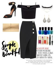 """""""Untitled #301"""" by itsafagh ❤ liked on Polyvore featuring Kate Spade, C/MEO COLLECTIVE, Lipsy, Givenchy, Nina Ricci, Charlotte Russe, Larkspur & Hawk, Zoya, Dolce&Gabbana and Lancôme"""