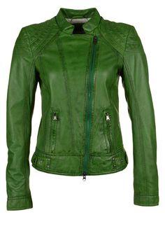 Milestone - KIERA - Chaqueta de cuero - verde