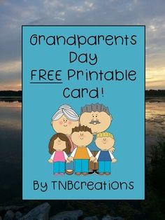 Grandparents Day: This FREE printable card is a perfect way to make grandparents feel special on Grandparents Day!In this product you will receive a printable page that contains a card to be cut out and folded. Card is approximately 3.5x4.5 inches. Students or teachers can cut out and fold the card, and students can write in it and decorate!