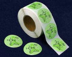 Hope, Faith, Love Lime Green Ribbon Stickers (500 Ct)