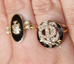 sorority badge as a ring after going alum