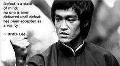 Great quote on defeat...